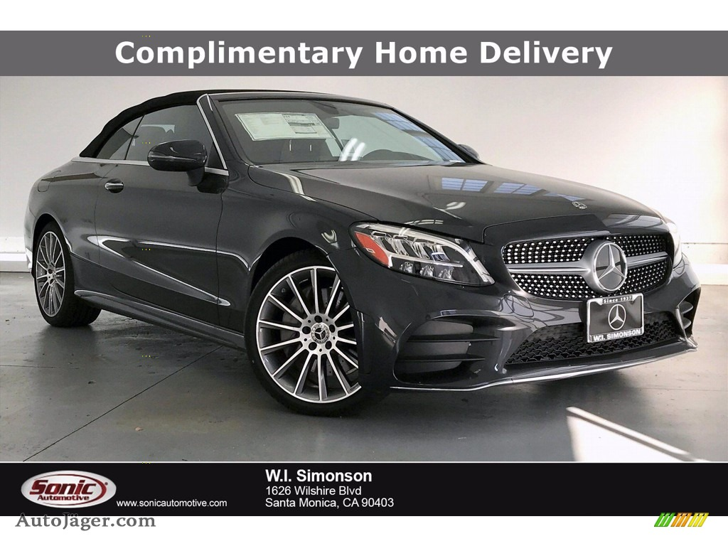 2020 C 300 Cabriolet - Graphite Grey Metallic / Black photo #1