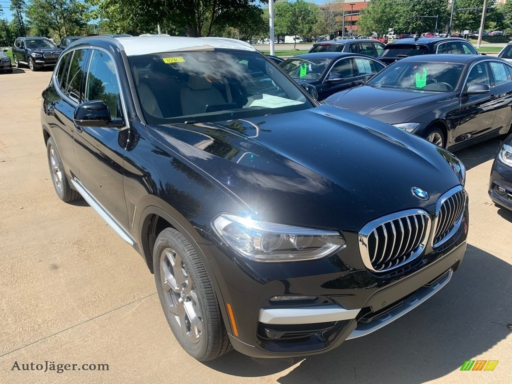 2021 X3 xDrive30i - Black Sapphire Metallic / Canberra Beige/Black photo #1