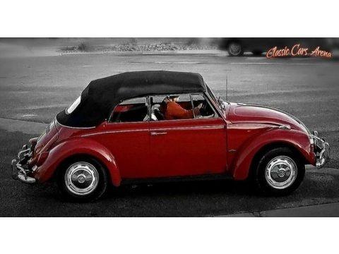 Ruby Red 1967 Volkswagen Beetle Convertible