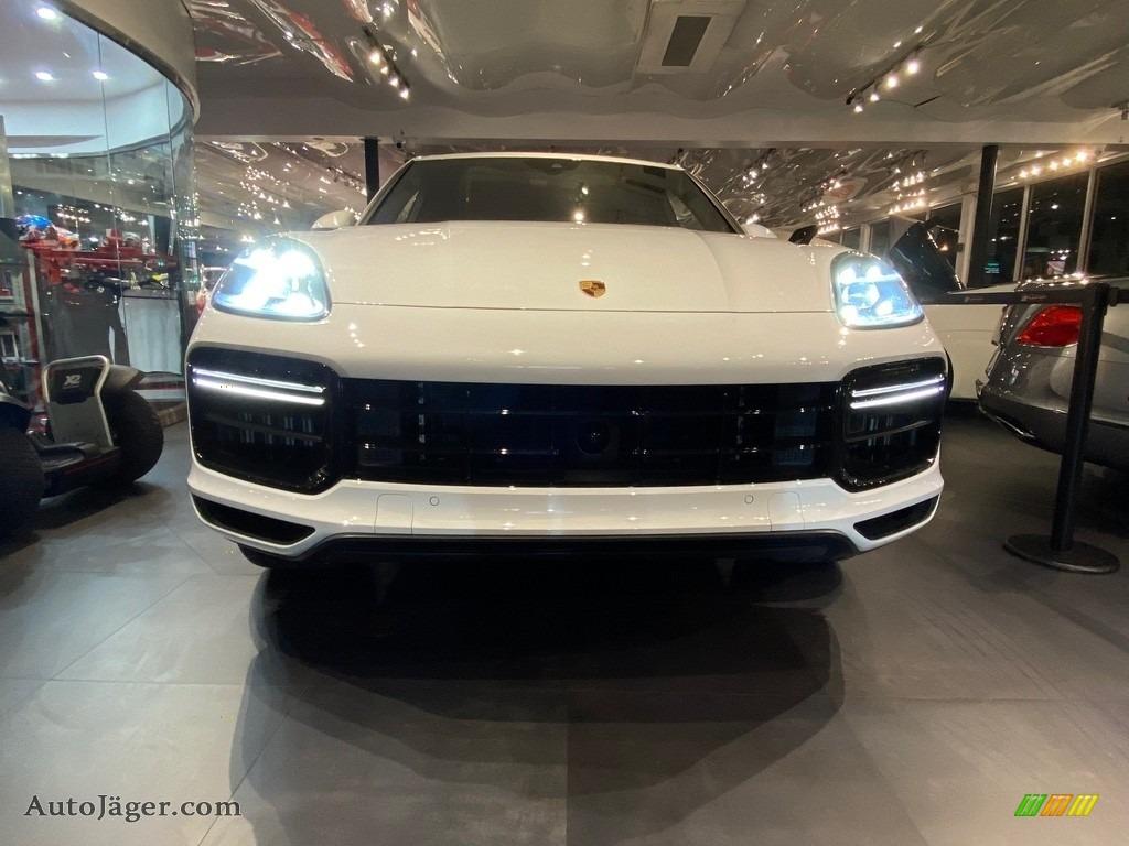 2019 Cayenne Turbo - Carrara White Metallic / Black photo #1