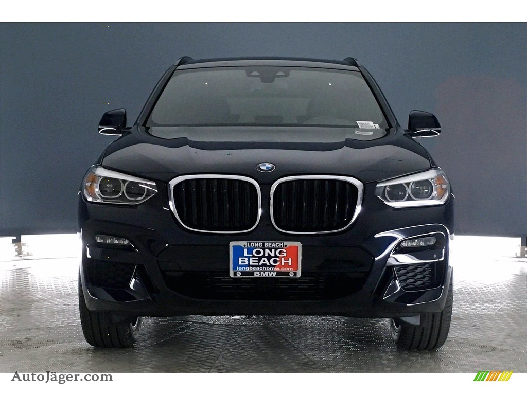 2021 X3 sDrive30i - Carbon Black Metallic / Black photo #2