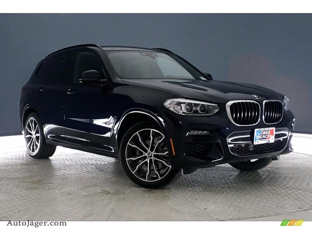 2021 X3 sDrive30i - Carbon Black Metallic / Black photo #19