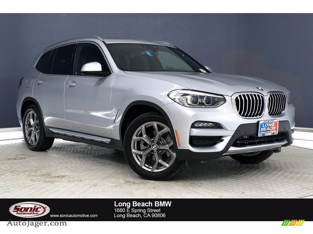 Glacier Silver Metallic / Black BMW X3 sDrive30i