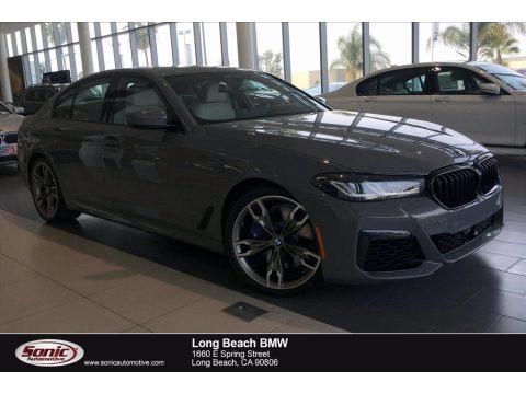 Bernina Gray Amber Effect 2021 BMW 5 Series M550i xDrive Sedan