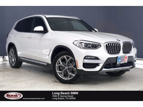 Mineral White Metallic 2021 BMW X3 xDrive30i