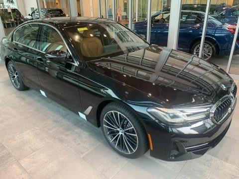 Black Sapphire Metallic 2021 BMW 5 Series 540i xDrive Sedan