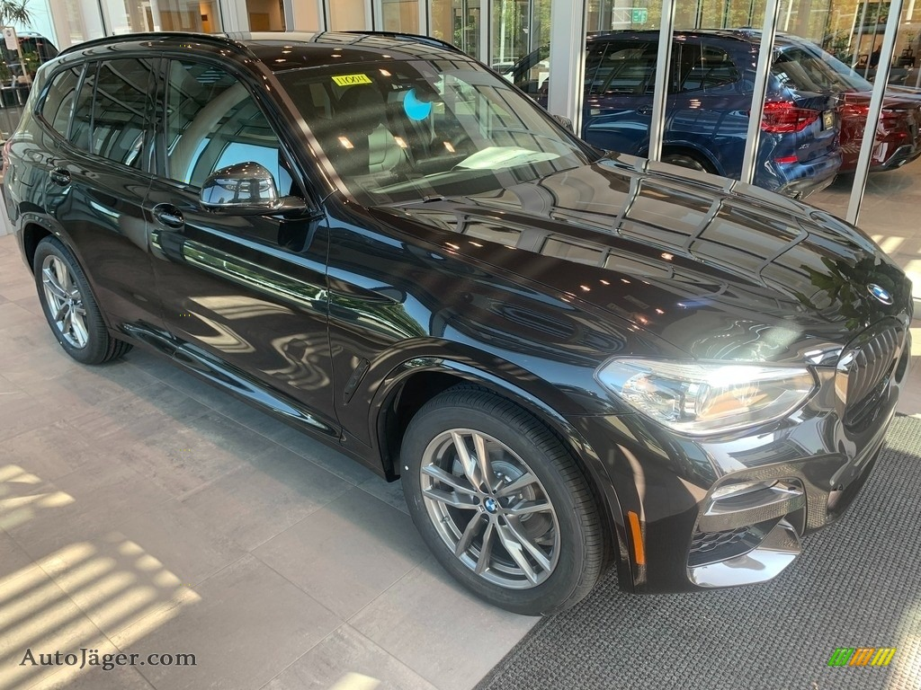 2021 X3 xDrive30i - Black Sapphire Metallic / Black photo #1