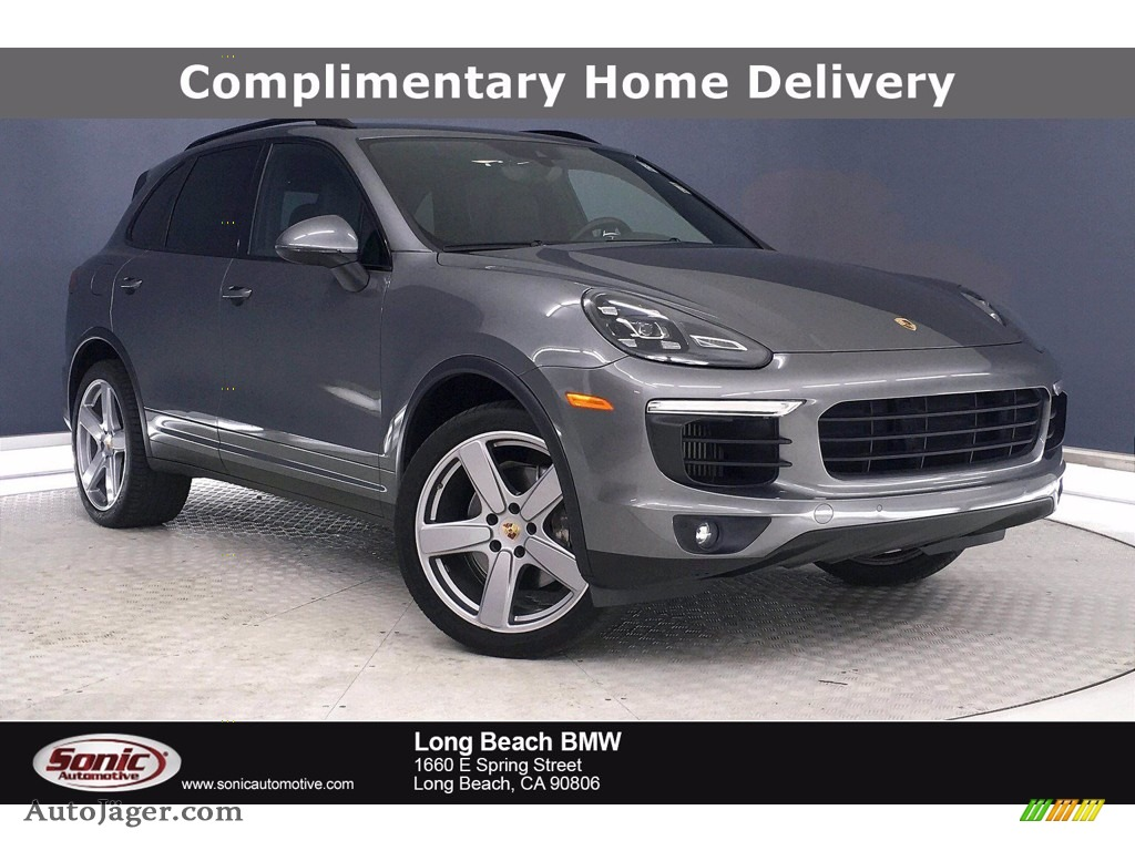 2016 Cayenne S - Meteor Grey Metallic / Black photo #1