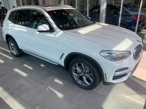 Alpine White 2021 BMW X3 xDrive30i