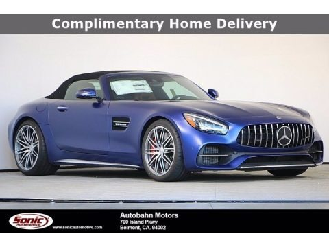 designo Brilliant Blue Magno (Matte) 2020 Mercedes-Benz AMG GT C Roadster