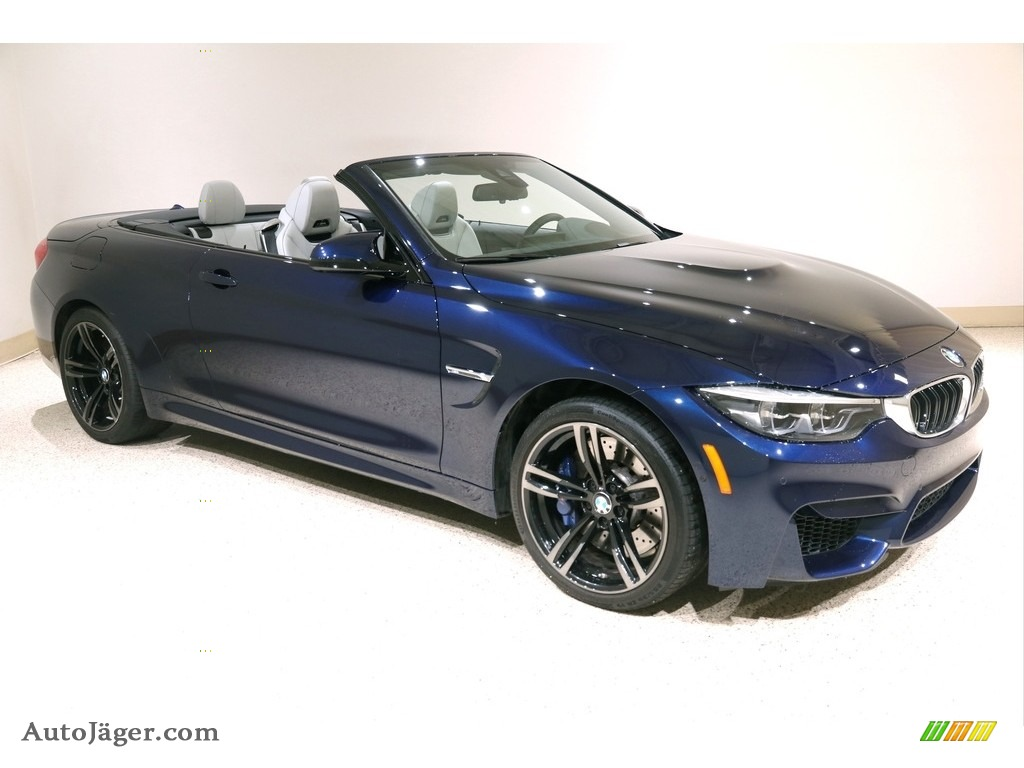2018 M4 Convertible - Tanzanite Blue Metallic / Silverstone photo #1