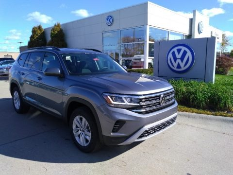 Platinum Gray Metallic 2021 Volkswagen Atlas S 4Motion