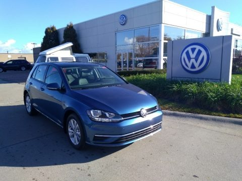 Silk Blue Metallic 2020 Volkswagen Golf 1.4T