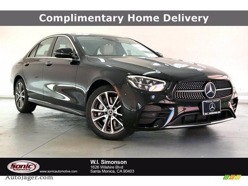 2021 E 450 4Matic Sedan - Black / Neva Gray/Magma Gray photo #1