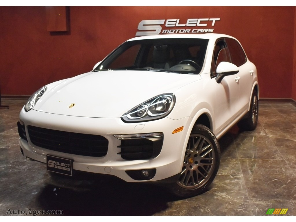 2017 Cayenne Platinum Edition - Carrara White Metallic / Black photo #1