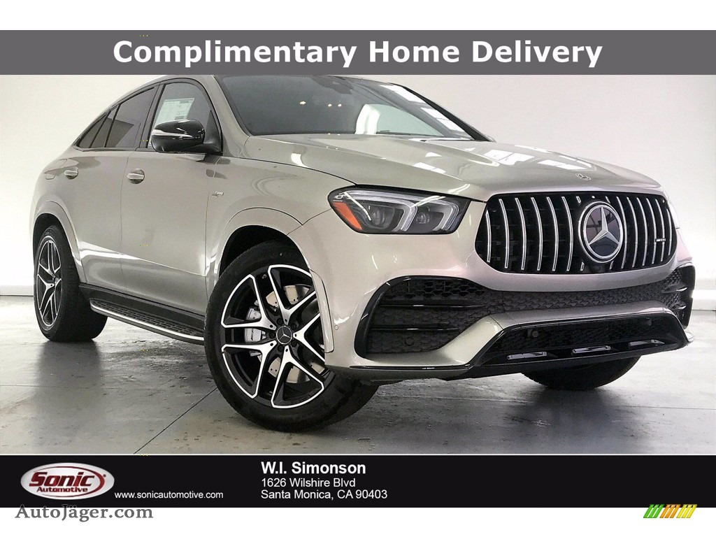 2021 GLE 53 AMG 4Matic Coupe - Mojave Silver Metallic / Black photo #1