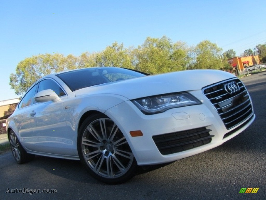 2012 A7 3.0T quattro Premium Plus - Ibis White / Black photo #1