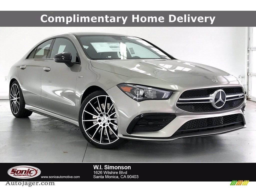 2021 CLA AMG 35 Coupe - Mojave Silver Metallic / Neva Gray/Black photo #1