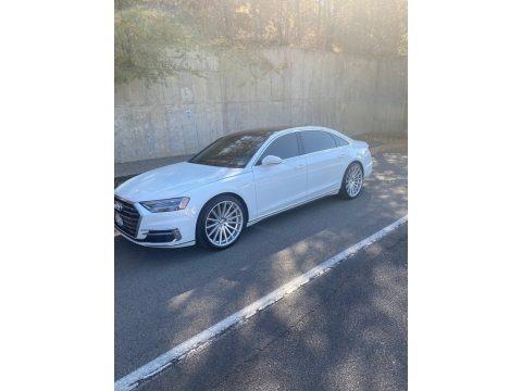 Glacier White Metallic 2019 Audi A8 L 3.0T quattro