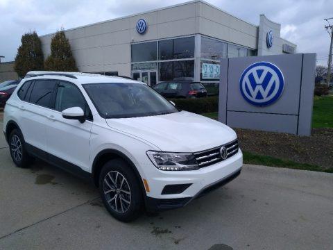 Pure White 2021 Volkswagen Tiguan S 4Motion
