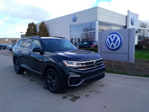Racing Green 2021 Volkswagen Atlas SE R-Line