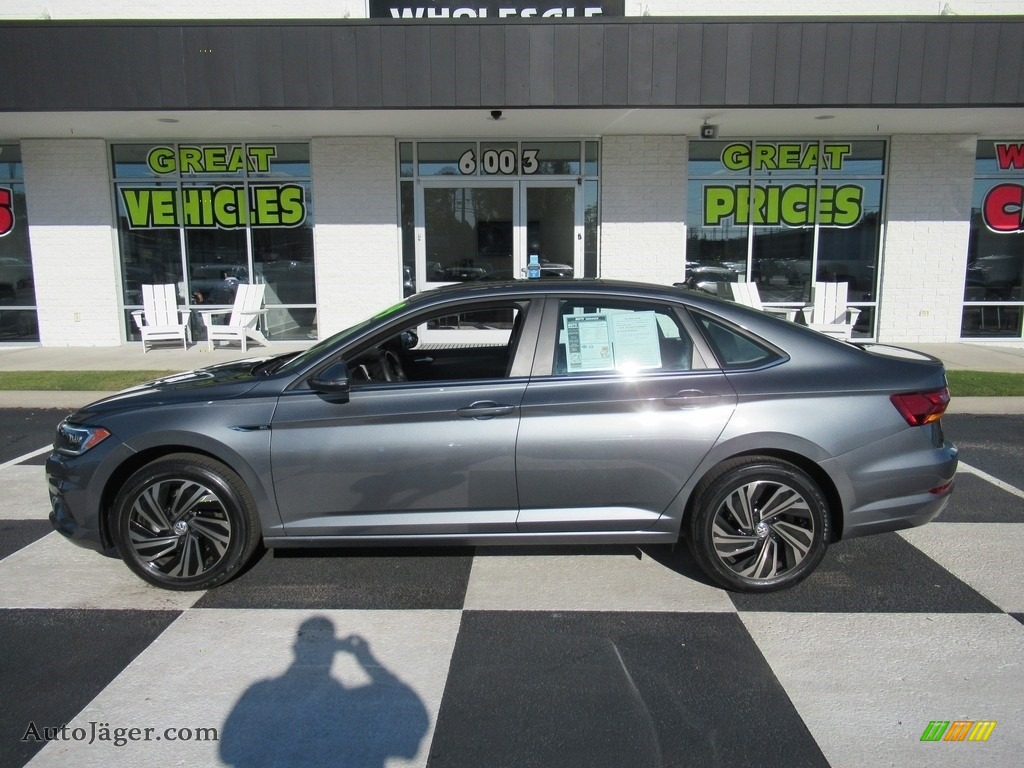 2019 Jetta SEL Premium - Platinum Gray Metallic / Titan Black photo #1