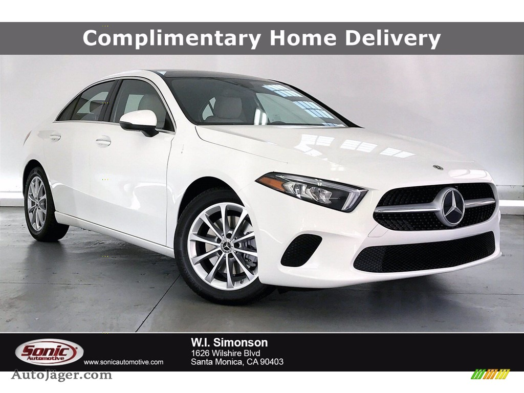 2021 A 220 Sedan - Polar White / Macchiato Beige photo #1