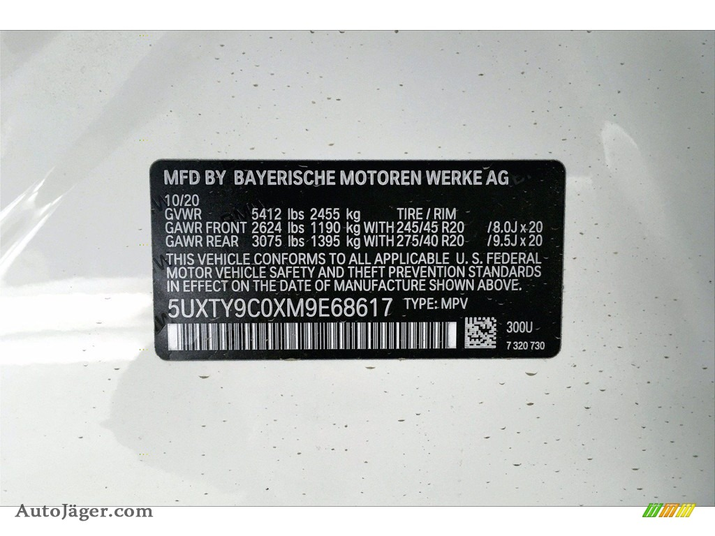 2021 X3 M40i - Alpine White / Black photo #18