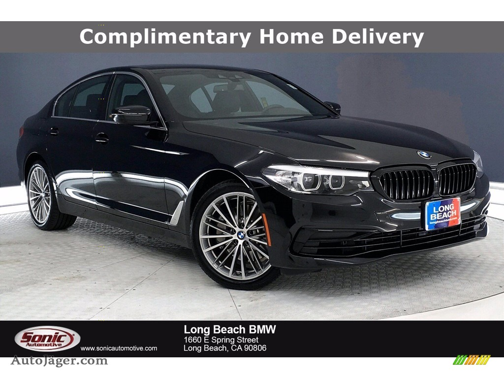 2020 5 Series 530i Sedan - Black Sapphire Metallic / Black photo #1