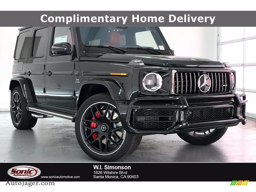 2021 G 63 AMG - Obsidian Black Metallic / designo Classic Red/Black photo #1