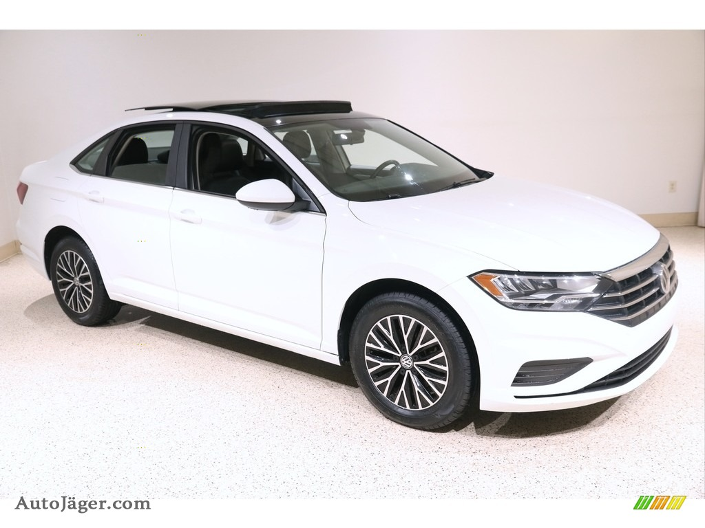 2019 Jetta SE - Pure White / Titan Black photo #1