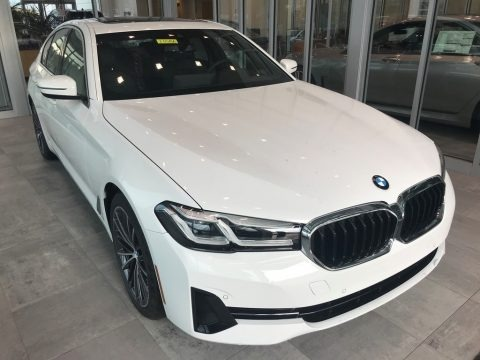 Alpine White 2021 BMW 5 Series 530i xDrive Sedan