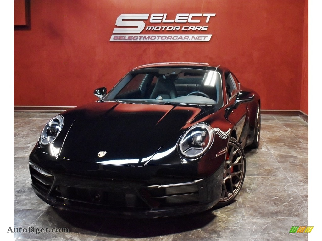 2020 911 Carrera 4S - Black / Black photo #1