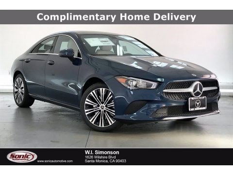 Denim Blue Metallic 2021 Mercedes-Benz CLA 250 Coupe
