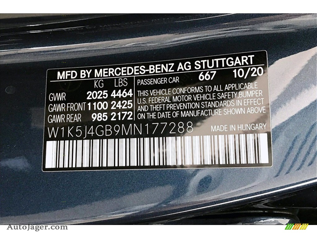 2021 CLA 250 Coupe - Denim Blue Metallic / Macchiato Beige photo #11