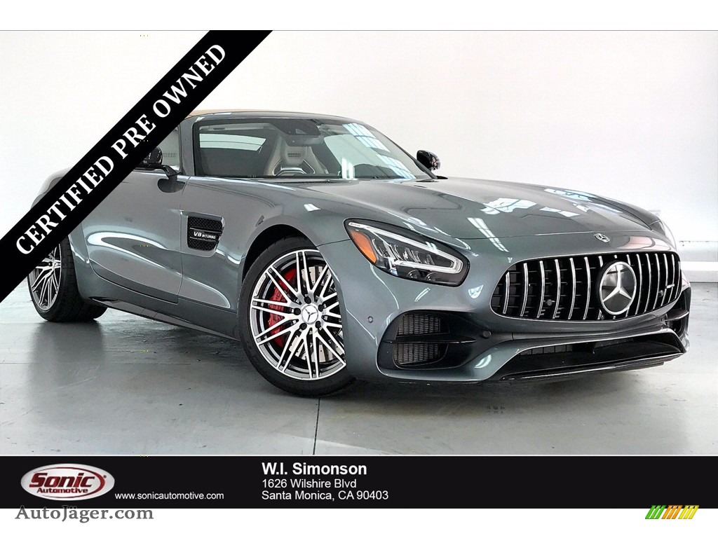 2020 AMG GT C Roadster - Selenite Grey Metallic / Macchiato Beige/Black photo #1