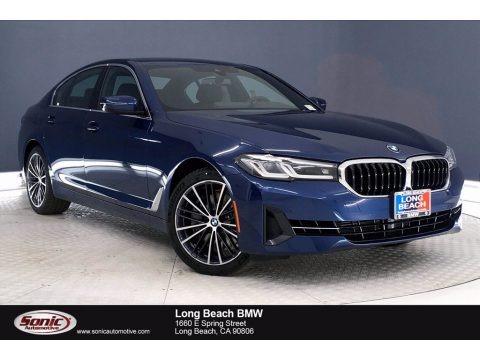 Phytonic Blue Metallic 2021 BMW 5 Series 540i Sedan
