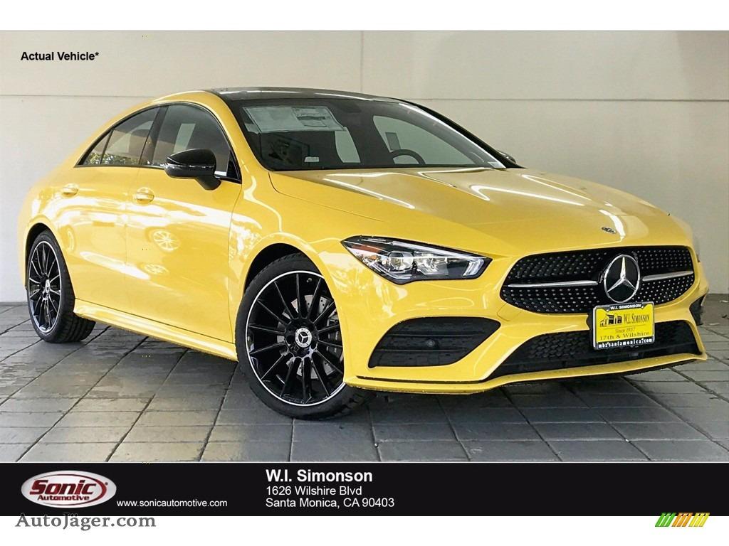 2020 CLA 250 Coupe - Sun Yellow / Black photo #1