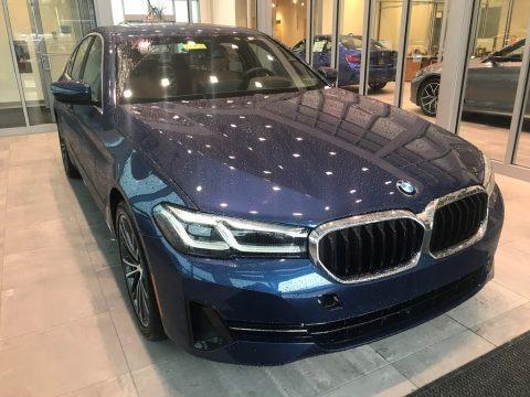 Phytonic Blue Metallic 2021 BMW 5 Series 530i xDrive Sedan