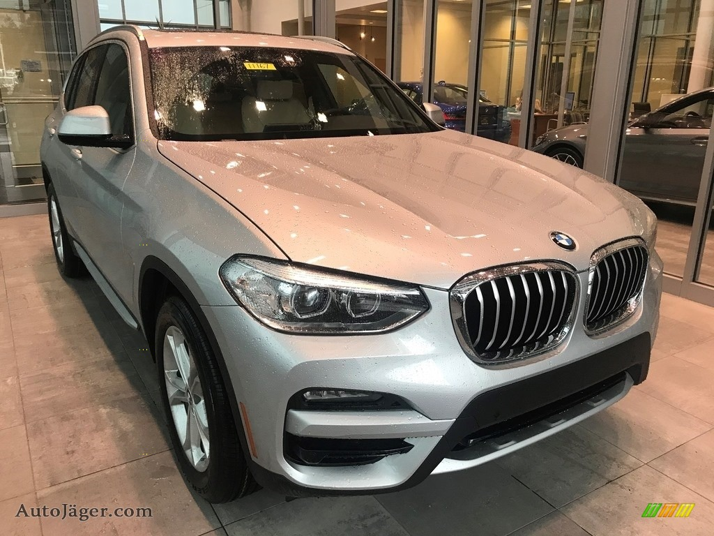 2021 X3 xDrive30i - Glacier Silver Metallic / Canberra Beige/Black photo #1