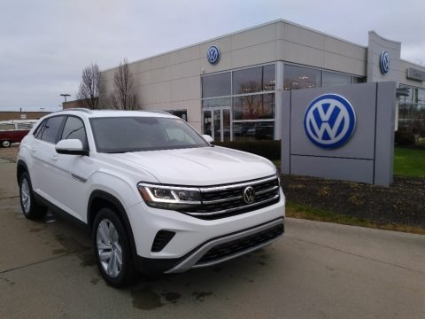 Pure White 2021 Volkswagen Atlas Cross Sport SE Technology 4Motion