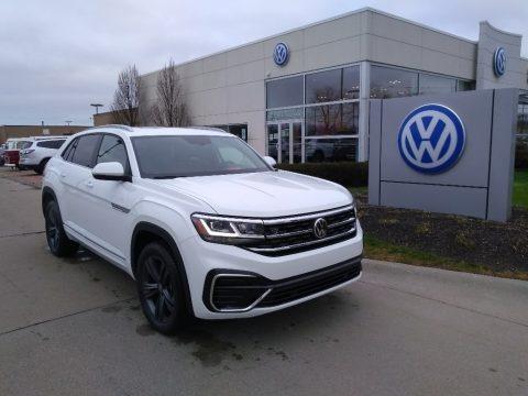 Pure White 2021 Volkswagen Atlas Cross Sport SE Technology R-Line 4Motion