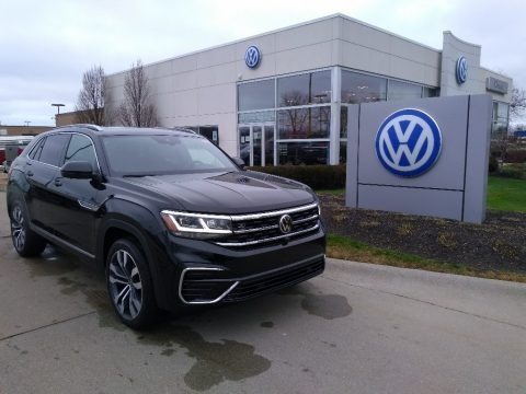 Deep Black Pearl 2021 Volkswagen Atlas Cross Sport SEL R-Line 4Motion