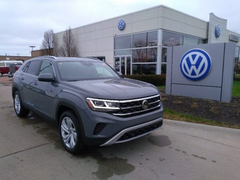 Pure Gray 2021 Volkswagen Atlas Cross Sport SEL 4Motion