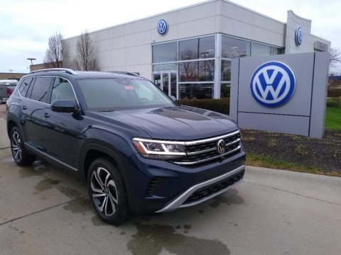 Tourmaline Blue Metallic 2021 Volkswagen Atlas SEL 4Motion