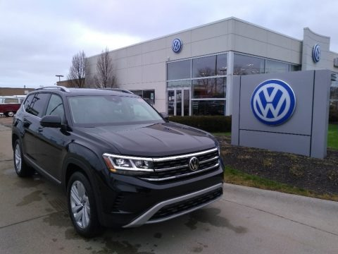 Deep Black Pearl 2021 Volkswagen Atlas SEL 4Motion