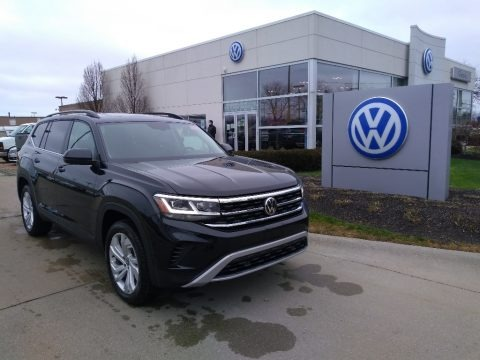 Deep Black Pearl 2021 Volkswagen Atlas SE 4Motion