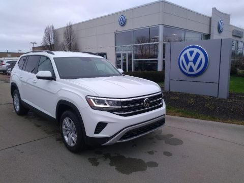 Pure White 2021 Volkswagen Atlas S 4Motion