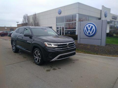 Deep Black Pearl 2021 Volkswagen Atlas Cross Sport SEL Premium 4Motion