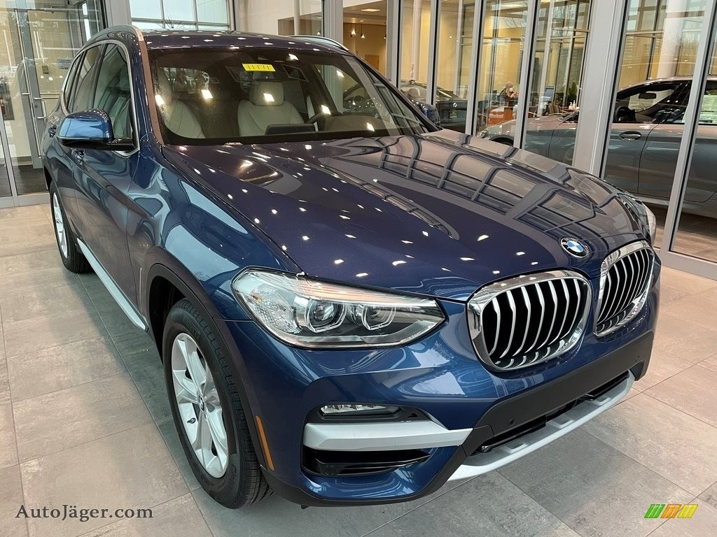 Phytonic Blue Metallic / Canberra Beige/Black BMW X3 xDrive30i